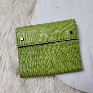 Banana Republic Green Leather Bi Fold Wallet